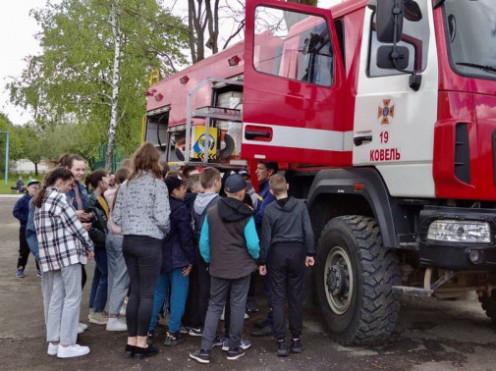 Рятувальники провели навчання для люблинецьких школярів