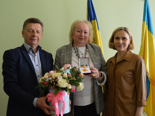 Директорку ковельського  ліцею імені Олени Пчілки Олену Вальчук нагородили орденом «Берегиня України»