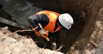 На Левицького у Ковелі стався порив водопроводу: 25 будинків без води