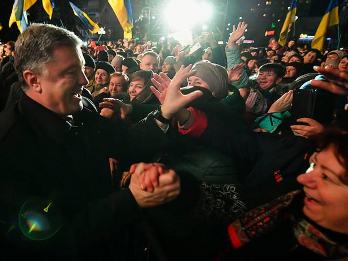 Петро Порошенко подякував ковельчанам за підтримку