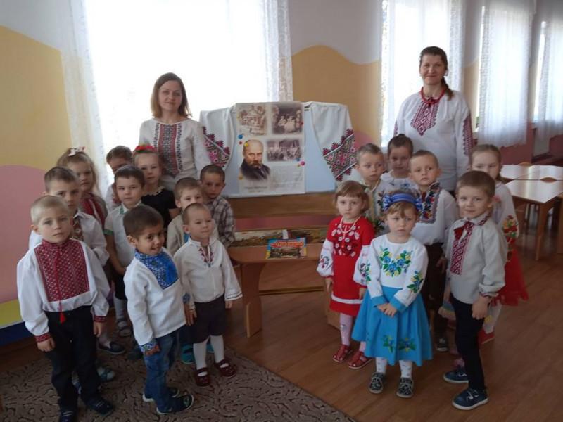 Мощена: як у дитсадку знайомили дітей з творчістю Тараса Шевченка