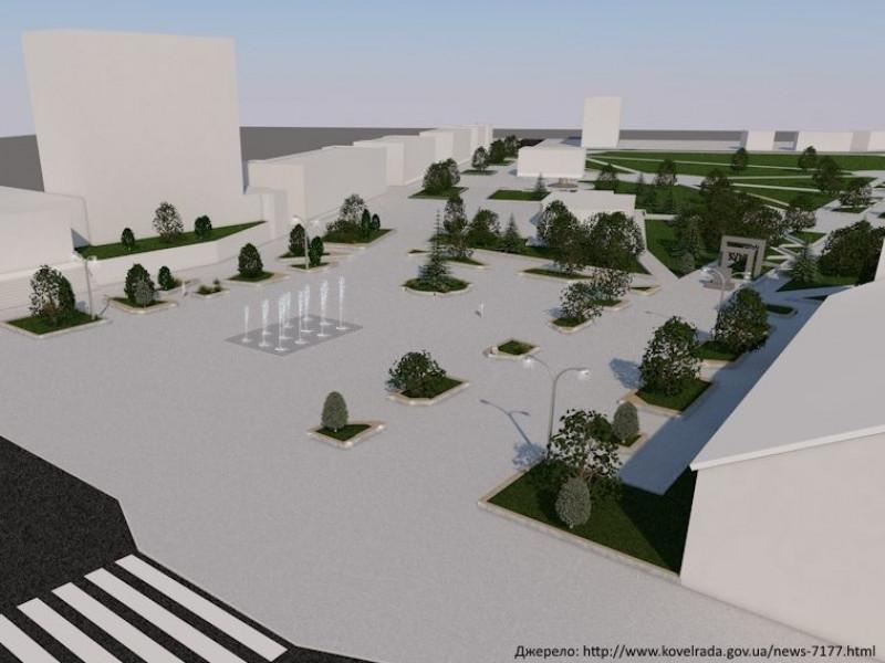 У Ковелі знесуть фонтан, натомість збудують неподалік новий пішохідний