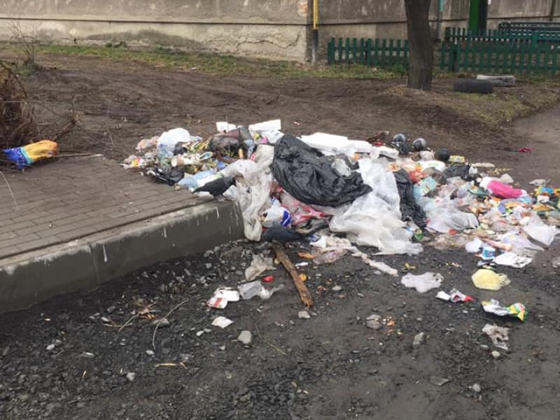 Мешканці будинку у Ковелі утворили стихійне сміттєзвалище