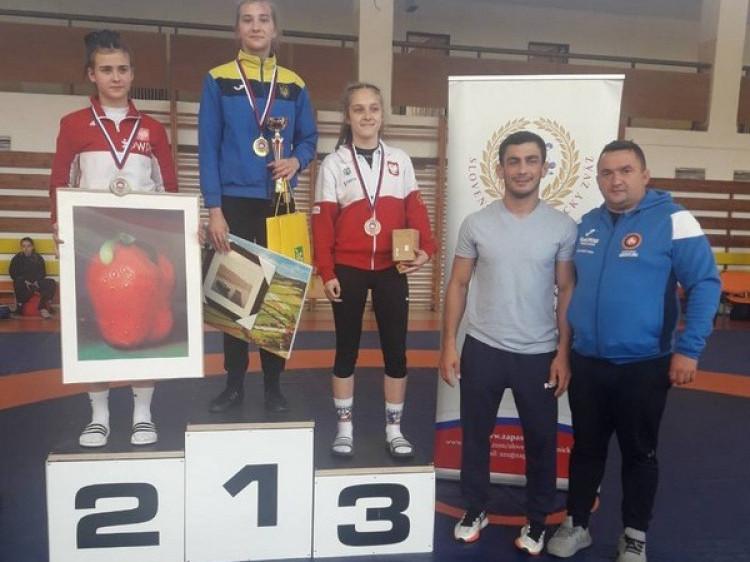 Ольга Падошик зайняла перше місце в міжнародному турнірі з вільної боротьби