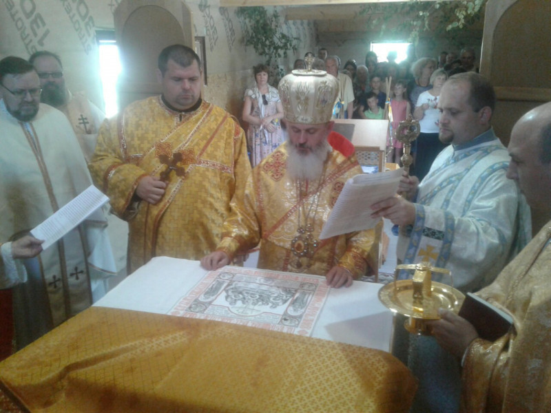 У Ковелі освятили перший у світі храм на честь священномученика Василія Величковського