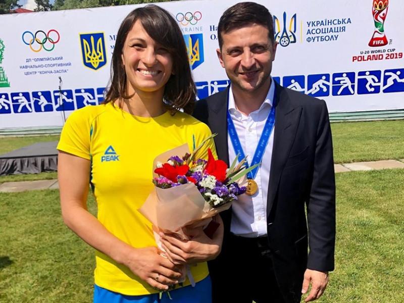 Юлія Ткач і Володимир Зеленський