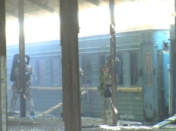 Працівники СБУ у Ковелі вчилися звільняти заручників на залізниці