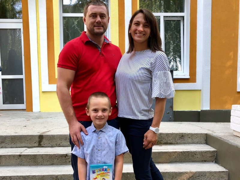 Син ковельської борчині Юлії Ткач пішов у перший клас