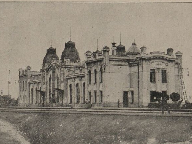 Вокзал у Ковелі часів Першої світової війни