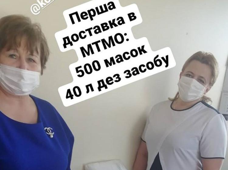Волонтери передали Ковельському МТМО 500 масок