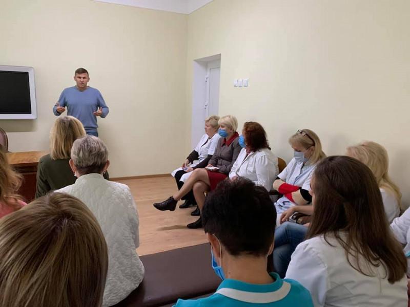 Сергій Кошарук зустрівся з медиками у Ковельській залізничній лікарні
