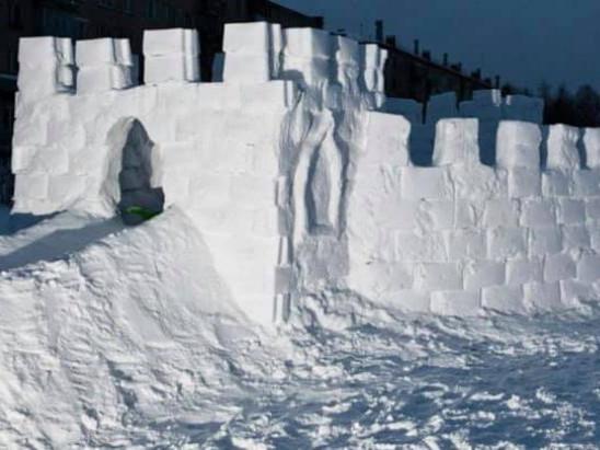 Містечко зі снігу / Фото ілюстративне