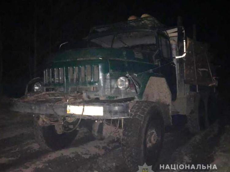Біля села Тойкут затримали вантажівку з незаконною деревиною