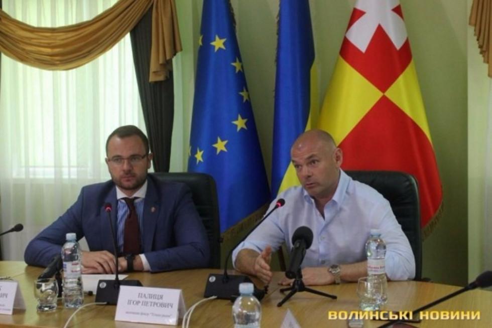 Під час чергового візиту до Луцька Ігор Палиця взяв участь у прес-конференції щодо організації «Ночі у Луцькому замку»