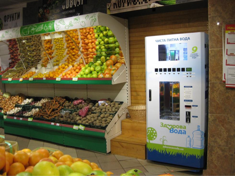 Чисту воду можна придбати у супермаркетах Наш Край