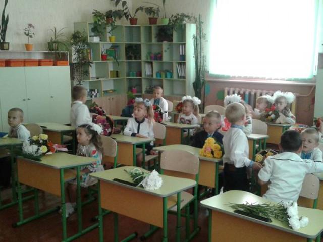 Перший клас у селі Облапи