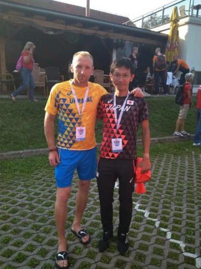 Олександр Головницький з рекордсменом світу японцем Нао Казамі