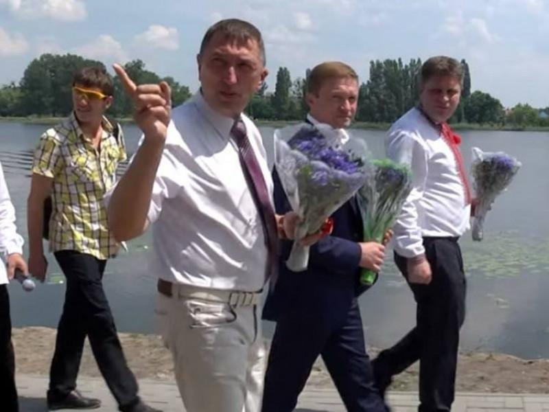 Олег Кіндер та Степан Івахів у Ковелі на набережній