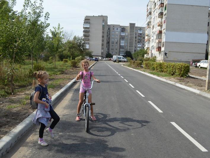 Відремонтована дорога біля дитсадка №8