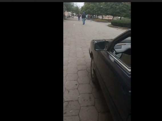 У Ковелі «автохам» їздив на пішохідному бульварі Лесі Українки