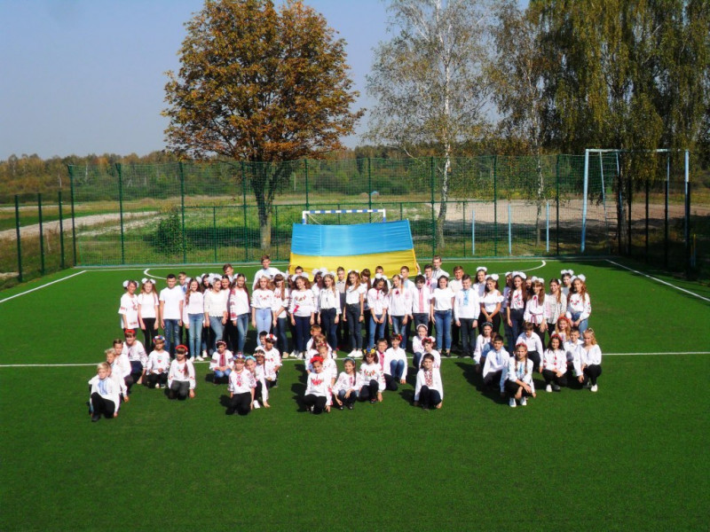 Флешмоб «Ми за мир!» у Люблинецькій опорній школі