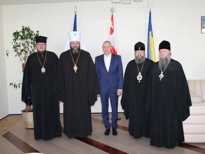 Митрополит Володимир-Волинський і Ковельський митрополит зустрівся із головою ОДА