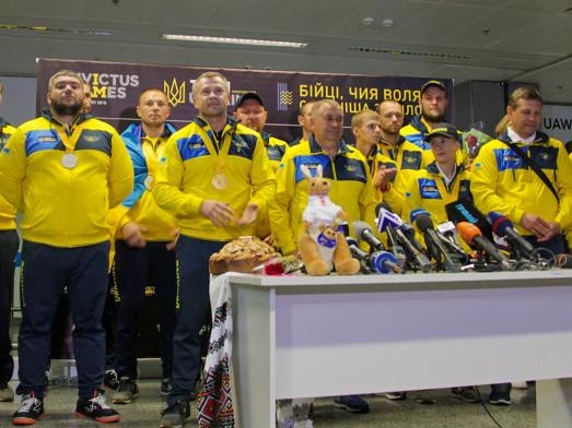 Зустріли збірну України в аеропорті «Бориспіль»