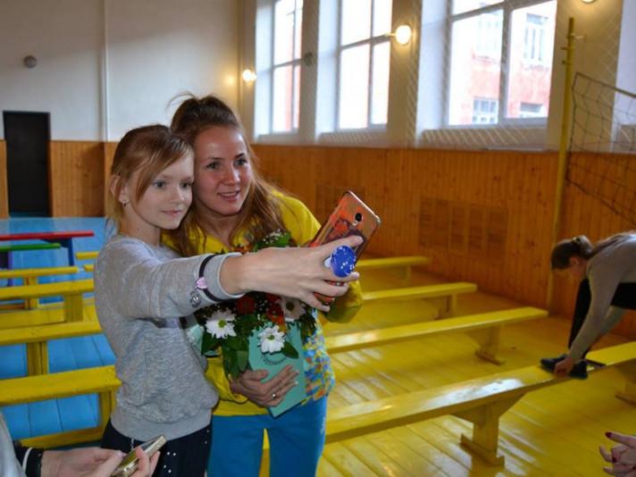 Відома ковельська боксерка Тетяна Коб провела майстер-клас для школярів