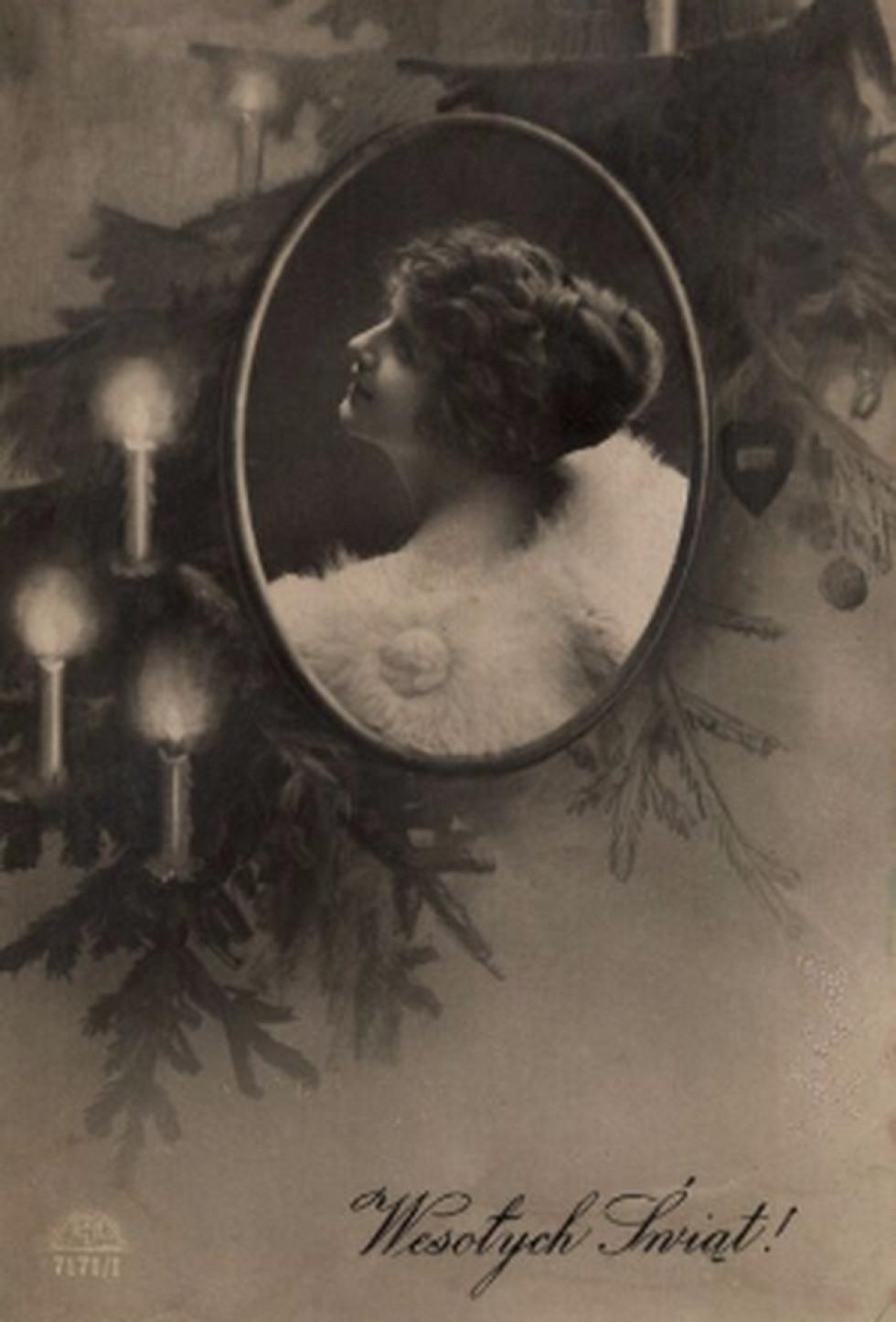 Польські різдвяно-новорічні листівки, 1920 – 1930-і роки. Це і наступні – фото з Polona.pl