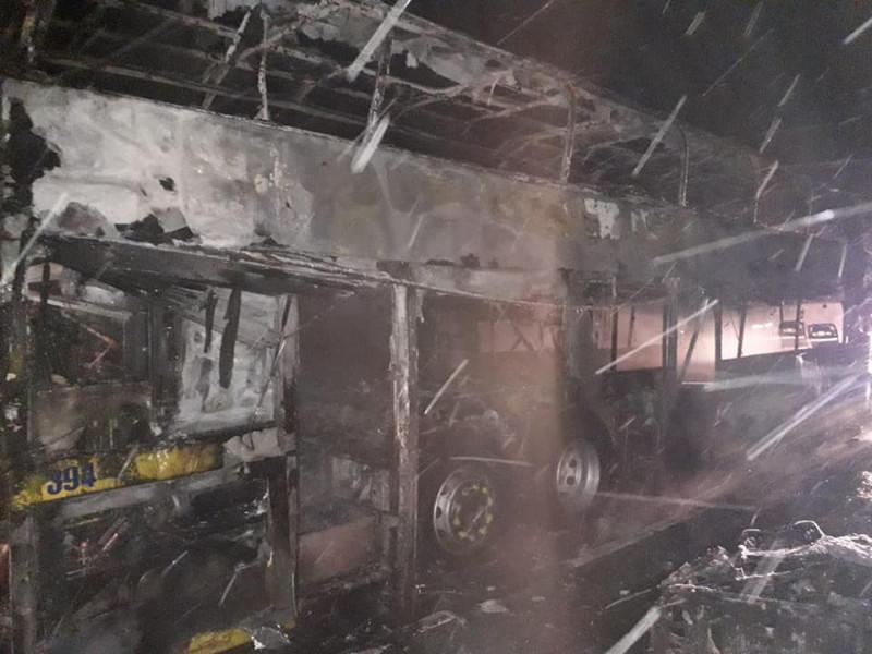 У ДСНС розповіли деталі загорання автобусу «Київ – Варшава»