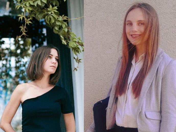 Переможниці конкурсу Олеся Саєнко і Антоніна Андрійчук