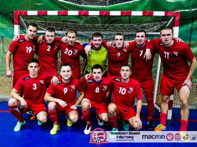 Команда «Вокар-Ковель» за крок від перемоги у чемпіонаті Волині з футзалу