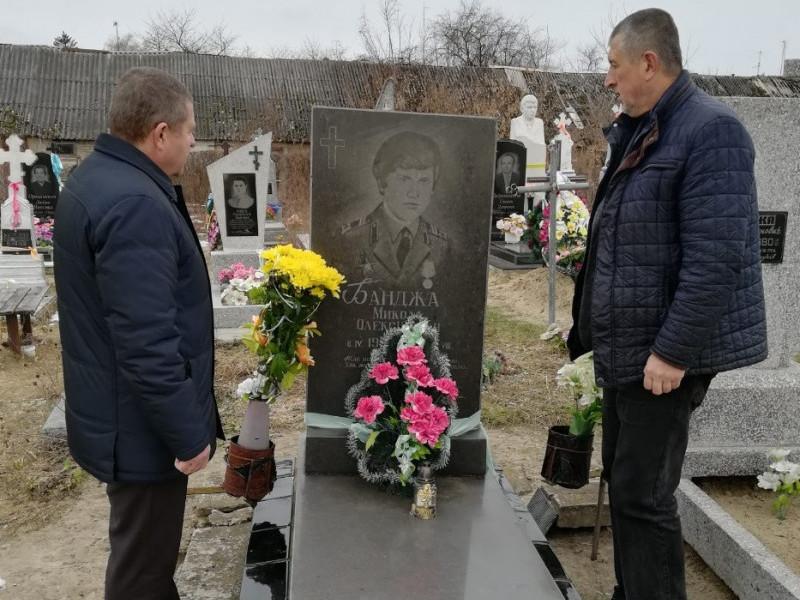 Голоби: вшанували бійця, який загинув під час війни в Афганістані