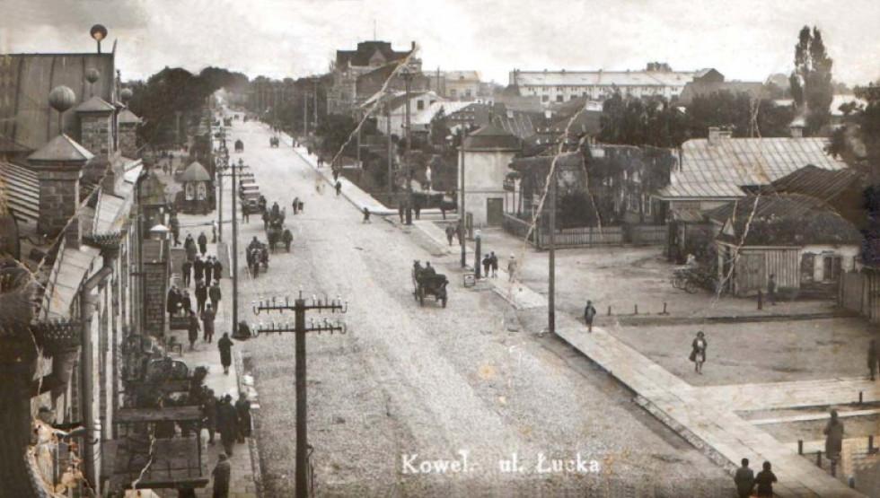 Вулиця Луцька у Ковелі у часі між світовими війнами