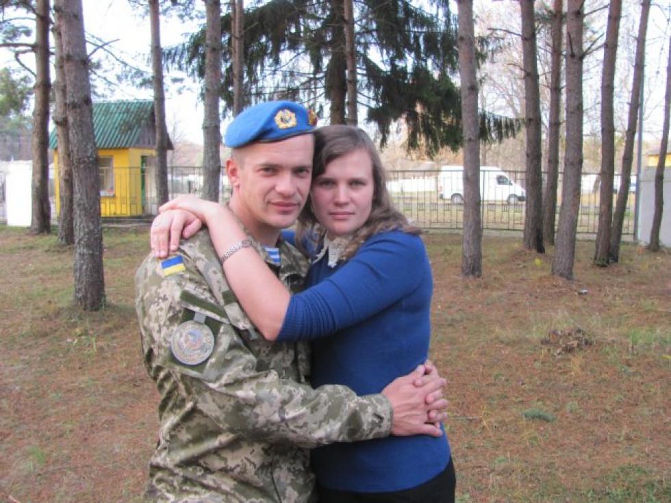 Віталій П'ясецький з дружиною