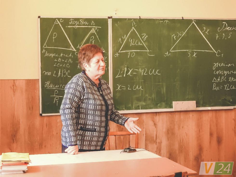 Марія Івахів багато років працювала у цій школі вчителем математики