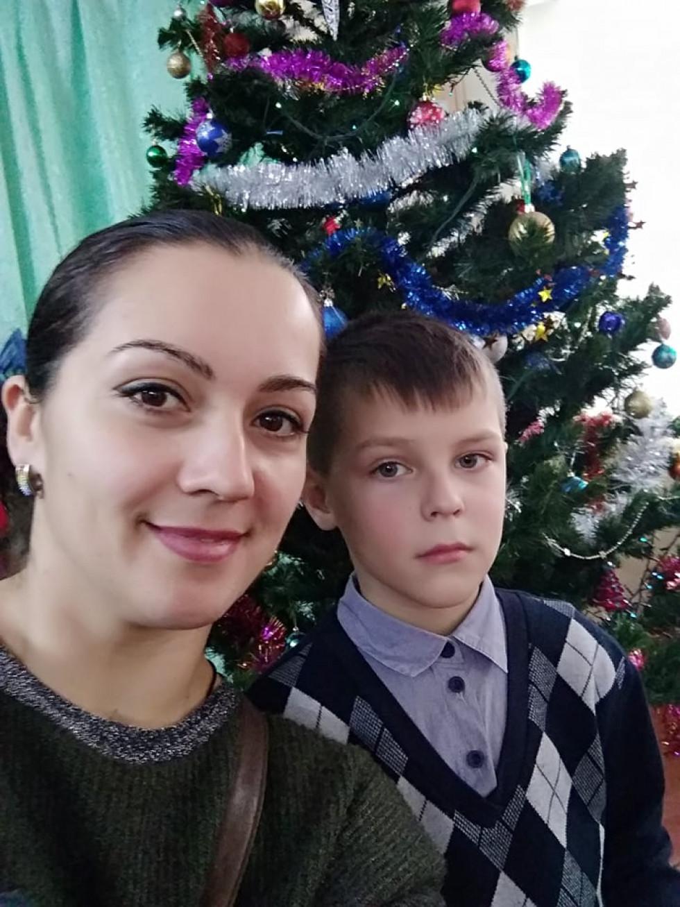 Марина з меншим сином Дімою